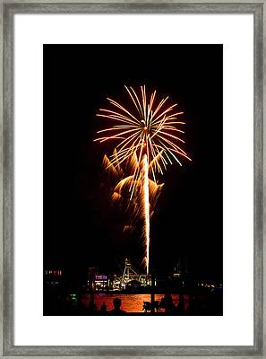 Framed Print featuring the photograph Celebration Fireworks by Bill Barber