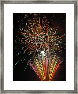 Celebration Fireworks Framed Print by Garry Gay