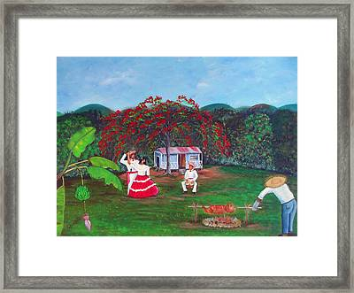 Celebration Framed Print by Gloria E Barreto-Rodriguez