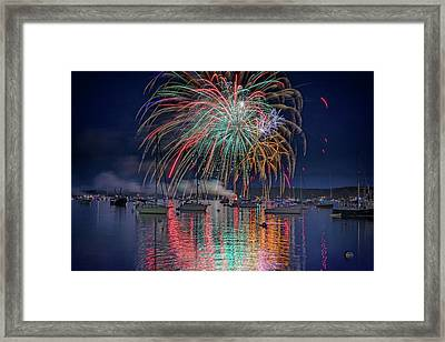 Framed Print featuring the photograph Celebration In Boothbay Harbor by Rick Berk