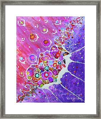 Celebration Of Color Framed Print by Desiree Paquette