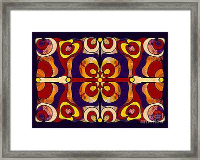 Celebration Of Sanity Abstract Bliss Art By Omashte Framed Print by Omaste Witkowski