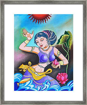 Celebration Of Woman Framed Print by Ragunath Venkatraman