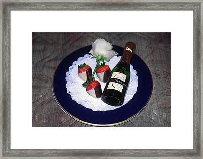Celebration Plate Framed Print by Sally Weigand