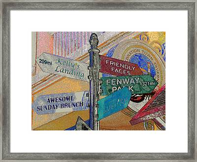 Celebration Town Directional Framed Print by David Lee Thompson