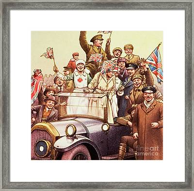 Celebrations Post World War I Framed Print by Pat Nicolle