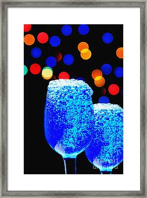 Celebrations With Blue Lagon Framed Print by Manjot Singh Sachdeva