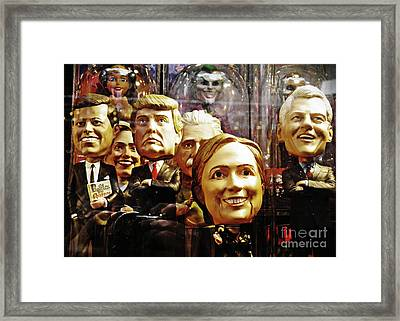 Celebrity Bobbleheads 1 Framed Print