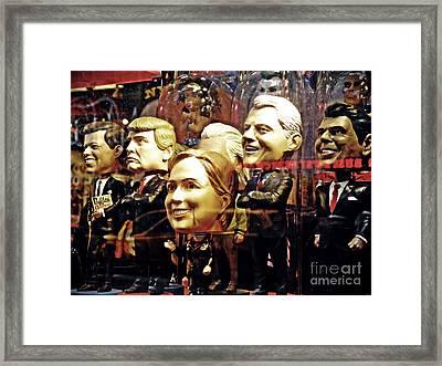 Celebrity Bobbleheads 2 Framed Print by Sarah Loft
