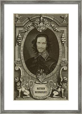 Celebrity Etchings - Matthew Mcconaughey   Framed Print