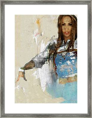Celebrity / Jennifer Lopez 2 Framed Print by Jani Heinonen