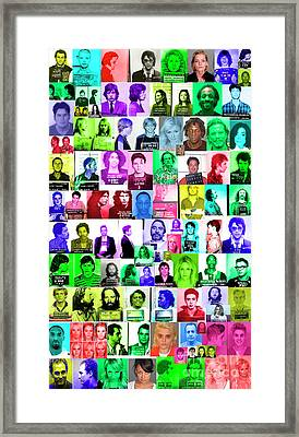Celebrity Mugshots Framed Print