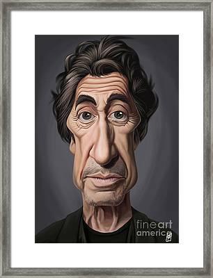 Celebrity Sunday - Al Pacino Framed Print by Rob Snow
