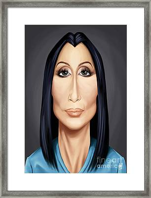 Celebrity Sunday - Cher Framed Print