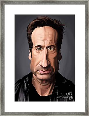 Celebrity Sunday - David Duchovny Framed Print