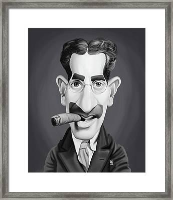 Celebrity Sunday - Groucho Marx Framed Print by Rob Snow