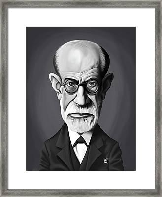 Celebrity Sunday - Sigmund Freud Framed Print by Rob Snow