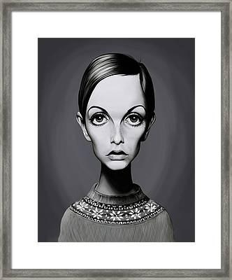 Celebrity Sunday - Twiggy Framed Print by Rob Snow