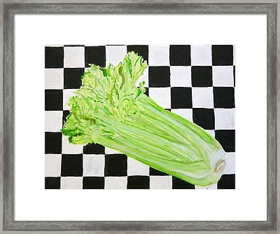 Celery Framed Print