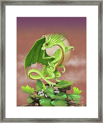 Framed Print featuring the digital art Celery Dragon by Stanley Morrison