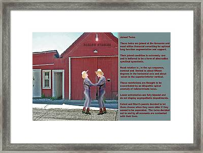 Celest And Star Framed Print by Jerry White