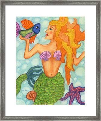 Celeste The Mermaid Framed Print