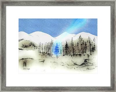 Celestial Beam Framed Print by Arline Wagner