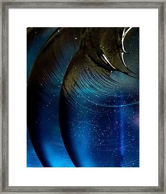 Celestial Blues Framed Print by Abigail Markov