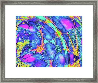 Framed Print featuring the digital art Celestial Burst by Wendy J St Christopher