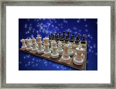 Celestial Chess Framed Print