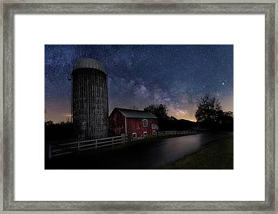 Framed Print featuring the photograph Celestial Farm by Bill Wakeley