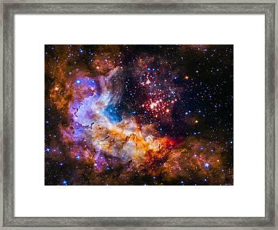 Celestial Fireworks Framed Print