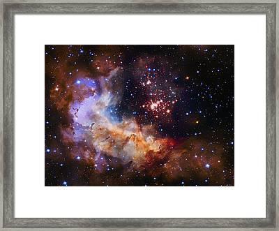 Celestial Fireworks Framed Print by Mountain Dreams