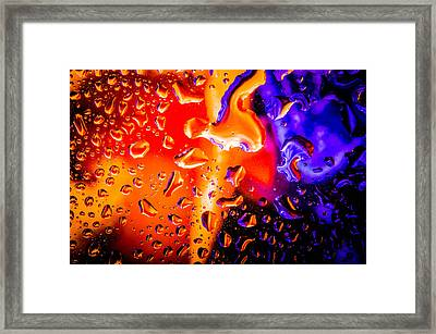 Celestial Fusion Break  Framed Print