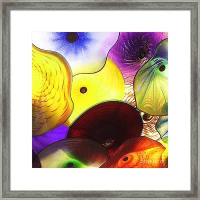 Celestial Glass 1 Framed Print by Xueling Zou