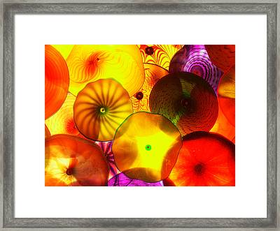 Celestial Glass 4 Framed Print by Xueling Zou