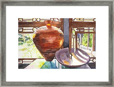 Celestial Hall Pottery I Framed Print by Melody Cleary