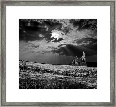 Celestial Lighting Framed Print by Meirion Matthias
