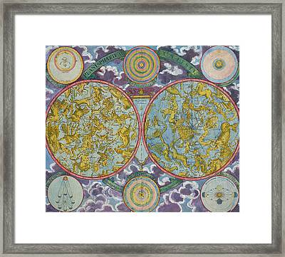 Celestial Map Of The Planets Framed Print