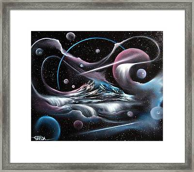 Celestial Mountain Framed Print by David Gazda