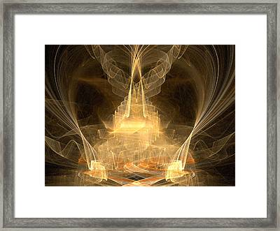 Framed Print featuring the digital art Celestial by R Thomas Brass