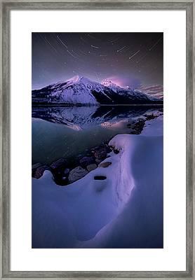 Celestial Reflection // Lake Mcdonald, Glacier National Park  Framed Print