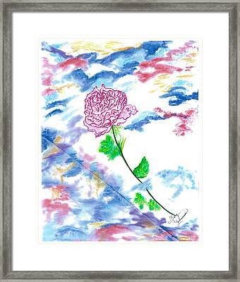 Celestial Rose Framed Print