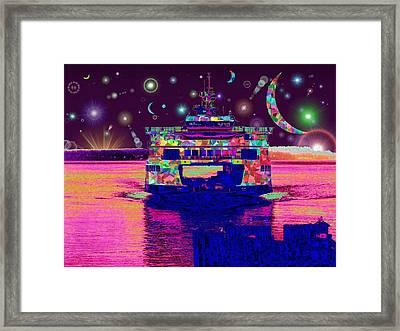 Celestial Sailing Framed Print by Tim Allen