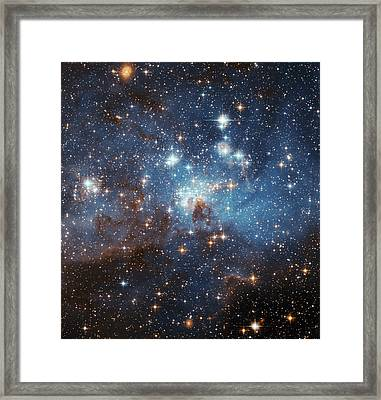 Framed Print featuring the photograph Celestial Season's Greetings From Hubble by Nasa