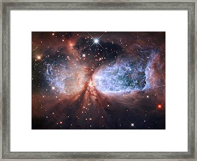 Celestial Snow Angel Framed Print by Mark Kiver