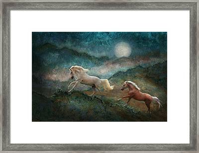 Celestial Stallions Framed Print by Melinda Hughes-Berland
