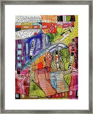 Framed Print featuring the mixed media Celestial Windows by Mimulux patricia no No