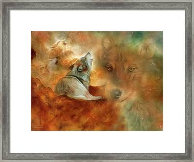 Celestial Wolves 2 Framed Print
