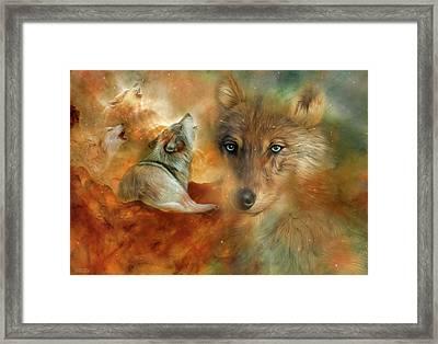 Celestial Wolves 3 Framed Print